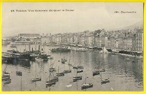 cpa 83 - TOULON (Var) Vue Générale QUAI DARSE Port Bateaux Ed. CHANTEPERDRIX