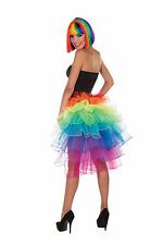 RAINBOW BUSTLE #TUTU SKIRT BURLESQUE 1980s FANCY DRESS OUTFIT ACCESSORY