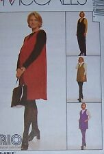 Maternity sewing PATTERN misses 8 10 12 Jumper vest tunic leggings jumpsuit  top