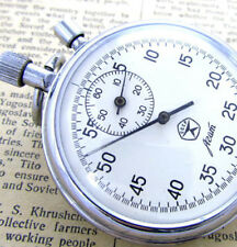 AGAT USSR SIGN QUALITY Vintage USSR Russia Military Mechanical Pocket Stop Watch