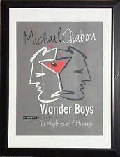 Michael Chabon's Wonder Boy's Poster Signed by Designer Peter Levine *RARE*