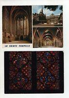 2 Large Vintage Post Cards - La Sainte Chapelle - Paris - France