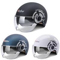Motorcycle Half Helmet w/Dual Sun Visor Scooter Chopper Motorbike Safety Helmet