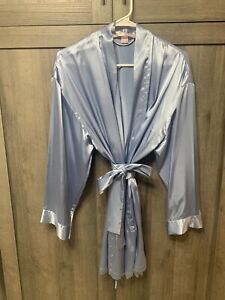Vintage Victoria's Secret Baby Sky Blue One Size Short Robe Kimono