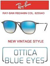 Occhiali da Sole RAYBAN RB 2448N 62554O Sunglasses Ray Ban FLAT LENSES GREY BLUE