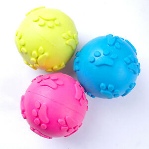 Footprints Cat Dog Ball Toy Interactive Durable Swimming Pool Funny Toy for Dogs
