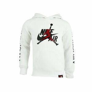 Nike Air Jordan Jumpman Classic Fleece Hoodie White - Men's Size -XL