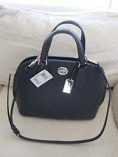 NWT Coach Prince Crossgrain Leather Medium Size Satchel- Navy $398  Style 34939