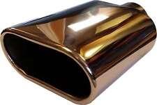 OPEL CORSA B 110x230mm OVALE SCARICO Tip Tail Pipe Pezzo Vite CROMATO A CLIP