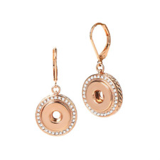 PETITE Ginger Snap Rose Gold Tone Bling Dangle  Earrings GP95-36