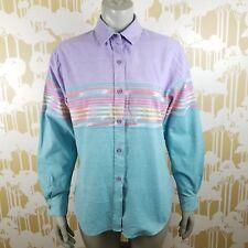 Vintage Roper Women's Large Pastel Southwestern Button Down Shirt USA Rodeo