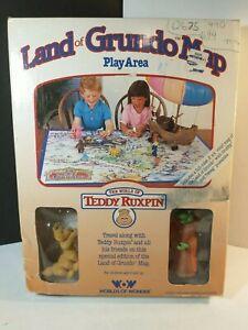 Vintage Land of Grundo Map Play Area World of Teddy Ruxpin Worlds of Wonder 1986