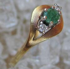 ღ☻ Smaragd Ring in aus 585 Gold mit Brillant Brillanten Smaragde emerald Diamond