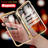 360° Magnetic Adsorption Full Tempered Glass Case Cover for iPhone XS Max XR X 8