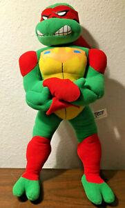 """Raphael TMNT PLUSH Teenage Mutant Ninja Turtles 15"""" Mirage 2008 Stuffed RARE HTF"""
