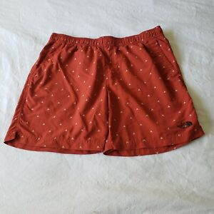 The North Face Class V Pull On Swim Shorts Trunks Red Flash Dry Size Large