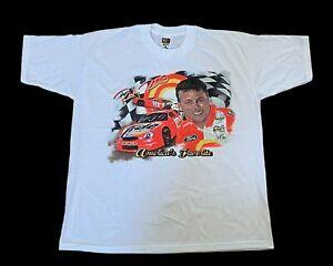 Vintage NASCAR Mens Size XL Ricky Rudd Tide Racing Team White T-Shirt