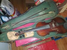 ANTIQUE VIOLIN WITH CASE AND BOW FOR REPAIR