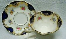 Royal Albert Empress Series Isabella Blue Panel Cup and Saucer
