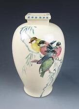 KELMSCOTT STUDIO Pottery Vase R.M. DOWIE Painted Signed Birds Reta Pennsylvania