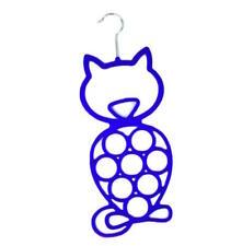 BLUE CAT SCARF BELT TIES SHAWL NECKTIE HANGER WARDROBE ORGANISER STORAGE