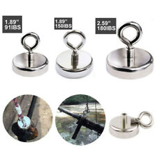 180 LB FISHING MAGNET Super Strong Neodymium Round Thick Eyebolt Treasure Hunt