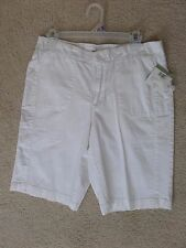 NWT Mountain Lake solid white SZ 10 loose shorts pants cotton stretch casual New