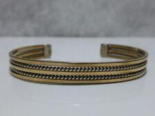 12k Gf Gold Fill Cuff Bracelet Tahe Native American Navajo Sterling Silver 1/20