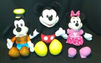 Lot Of 3 Disney Talking Mickey Minnie And Goofy great for A Christmas gift WORK
