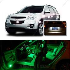 For Chevy Equinox 2010-15 Green LED Interior Kit + Xenon White License Light LED