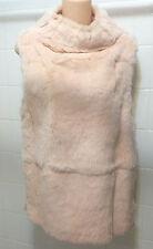 NWOT $600 JOSEPH Sheared Rabbit Fur Vest Jacket Cowl Neck S Bust 34 New