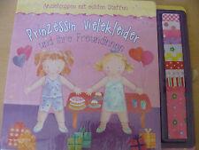 Prinzessin vielekleider und ihre Freundinnen-Anziehpuppen mit echten Stoffen
