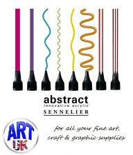 Sennelier ABSTRACT ACRYLIC PAINT TIPS 8 pack artists colour aplicator nozzels