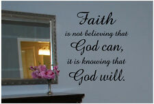 Faith.. God.. quote Wall Decal Decor Art Sticker Mural