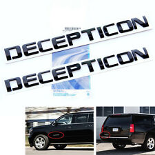 2x Origianl Black DECEPTICON EMBLEM Badge Letter 3D for F150 Silverado Tundra Lu