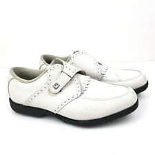 Fj Footjoy GreenJoys Mens Size 8.5 White Golf Shoes 48352