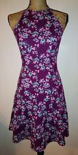 NEW SO Authentic American Heritage Women's Size XS Halter Purple Floral Dress