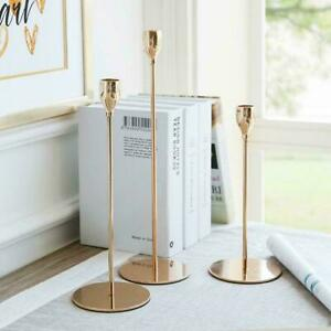 Tulip Nordic Candlesticks Golden Candlestick Candle Holders Dinner Decor K7B6