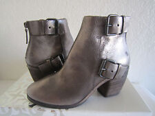 Marsell Torsolino Silver Metallic Leather Buckle Ankle Boot Sz 36 Us 6