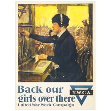 Back Our Girls Over There United War Work Campaign Deco FRIDGE MAGNET, 1918