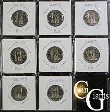 2001-S Vermont State Quarter Proof Partial Roll 8x Coins Washington 25c Lot VT !