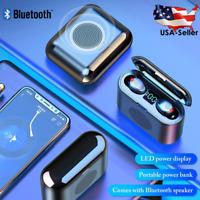 Bluetooth Speaker Wireless Waterproof Outdoor Stereo Bass USB Headphone Earbuds