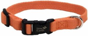 "New NWT Classic Standard Soy Dog Collar New Earth Large 1""x 18-26"" Pumpkin"