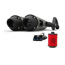 HMF Can-Am Renegade 1000 2016 Dual Full Blackout Exhaust Muffler + EFI + UNI