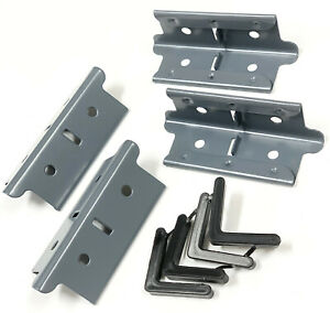 """Edsal Muscle Rack Shelving Post Coupling Coupler Connector 4-Pack GRAY 4""""x1.375"""""""