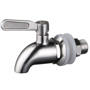 Stainless Steel Beverage Dispenser Spigot,Quarter Turn,Ball Valve, fits 5/8 inch