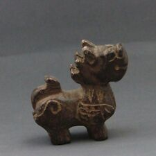 Old Jade Gemstone Happy Lucky Qilin Kylin Sculpture