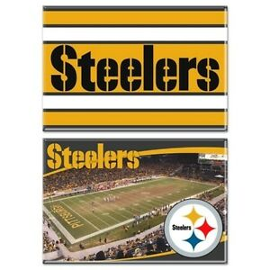 Pittsburgh Steelers NFL Heinz Field 2-Pack Magnets 12ct Lot