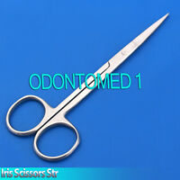 Straight Iris Scissor 4.5'' Ophthalmic Suture Removal Serrated Blade Grooming