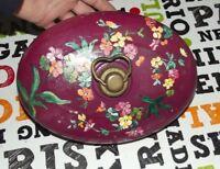 Ancienne Bouillotte pour déco vintage Bouquet de Fleurs Peint percé bathroom